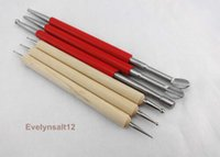 Wholesale 6 Leathercraft Modelling Spoon Carving Tool for Leather PMC