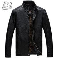 Wholesale 2015 New Style Autumn Winter Brand Leather Jacket Men Bomber Leather Jackets PU Coat Motorcycle Jacket