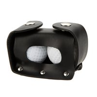 Wholesale Mini Portable Leather Golf Ball Holder Balls Tees Golfer Club Pouch Bag with Clip Indoor Outdoor Goft Practice Equipment