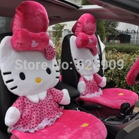 Wholesale Christmas Gift Winter Car seat covers set for Winter cars Hello Kitty Car seat covers set car accessories