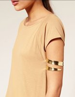 armlet bracelet - Hot Newest Women Lady Personality Punk Gothic Glossy Swirl Snake Arm Cuff Armlet Armband Bangle Bracelet Fashion Jewelry W873