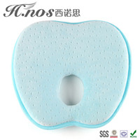 apple shaped pillow - Apple shaped cotton slow rebound newborn baby soft pillow shape to correct anti migraine baby sleeping pillow