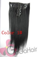 24 inch clip in human hair extensions - 100 Indian Remy Human Hair Straight Clip In Extensions Inch Color Remy Human Hair Weaves Weft DHL