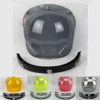 Wholesale snap open face helmet visor vintage motorcycle helmet bubble shield visor lens glasses retro VISOR TINTED SHIELD A3