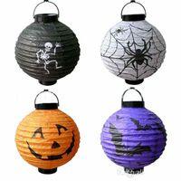 halloween decorations pumpkin - Halloween Holiday GIFT Pumpkin Lantern light SKULL Ghost Spider Bat Decoration lamp Lantern LED LIGHTS light MOQ