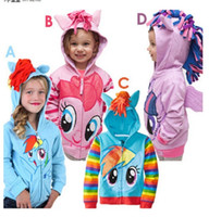 kids winter jackets - 3pcs My little pony Kids Girls Boys Jacket Children s Coat Cute Girls Coat Hoodies Girls Jacket Children Clothing Cartoon