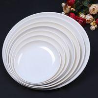 dinner plate - Round Plates Melamine Dishes Dinner Kitchen Utensils Kitchen Accessories Restaurant Food Holder Buffet Smorgasbord Supplies