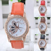 brand name watches - Fashion Luxury Watches Brand Name PU Leather Wristwatches Diamonds Butterfly watches women Y20 MHM565 Y4