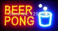 beer pong sign - Direct Selling graphic X19 inch indoor Ultra Bright flashing led beer brewing pong store sign