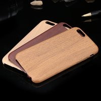 Wholesale Mobile Phone Case For iPhone6 S For iPhone Plus S Plus Fashion Retro Wooden Pattern Soft Leather Cover