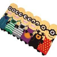aries animal print - pair ARIES New Minions cute cartoon sox Autumn South Korean women s Fashion Cotton Tube Socks meias soks colors