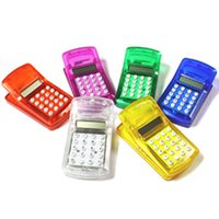 Wholesale 500pcs LCD Screen Display Mini Portable Pocket Clip Calculator for Student