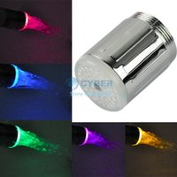 Wholesale New Water Glow Shower Multicolor LED Light Faucet Sink Tap RC F04