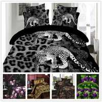 Wholesale Our promotion D Polyester Cotton bedding set reactive printed D bed linen coverlet set king size fast shipping