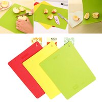 Wholesale 2015 New Flexible Chopping Block Plastic Cutting Board Antibiotic Kitchen Utensils Chopping Board Fruit Vegetable Chopping Block