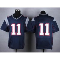 Wholesale Cheap Stitched Elite Jersey High Quality Navy Blue On Field Football Jerseys Super Bowl Team Jersey Breathable Outdoor Sportswear