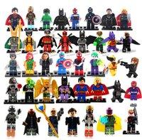 Wholesale Hot New Year Gift High Quality Mini Figure avenger super hero ironman batman Flash Building Blocks toys birthday gift free ship