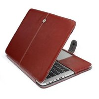 Wholesale Portable PU Leather Case Folding Protective Cover Sleeve For Macbook Air inch Air Pro with Retina Laptop Protector Bag Folio
