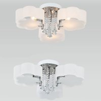 Wholesale hot Modern lighting Crystal Ceiling Lights Acrylic glass LED vintage lamp E12 E27 chandelier crystals Bedroom fashion living V ws