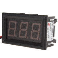 Wholesale New arrive AC V LED Digital smart Voltmeter with Two Wire System Red Display led display voltmete EGS_140
