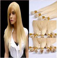 "Brazilian Hair 60# Light Blonde Straight Free Shipping 16""- 24"" human hair flat tip hair extension 0.5g strand 200starnds pack 60# light blonde flat tip brazilian hair extensions"