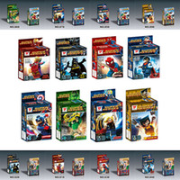 baby block gift - Super Heroes the Avengers Iron Man Superman Minifigures Building Blocks Sets Baby Figure brick Toys For Children gift Retail box