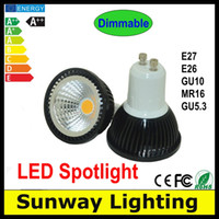 24v e27 led - Cree LED Spotlight W W W GU10 E27 E26 MR16 GU5 LED Bulb dimmable AC85 V DC V LED COB Spotlight