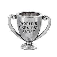 artists circle - Special Cup Charms Pendant For Gifts With Letter World Greatest s Artist Findings Components For DIY Jewelry