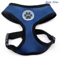 100pcs Nouveau design Soft Air Mesh Pet Dog Harnais avec Paw étiquette Popular Pet harnais ceinture