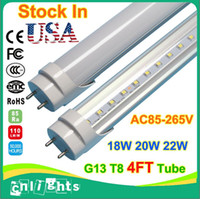 Cheap 4ft T8 Led Tubes Lights 18W 20W 22W Frosted Clear Cover G13 Bulbs SMD2835 4 foot Fluorescent Tube Light Lamp
