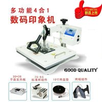automatic t shirt press - UDT New Fashion Combo in T Shirt Heat Press Machine Digital Hot Transfer Mug Press Cap Dish Hot Sublimation Printer