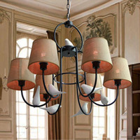 application switches - Exquisite European resin birds pigeons doves flax LED pendant light lamp Parlour Diner Bedroom Hotel Cafe bar application