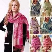 Wholesale Warm Scarf CM Retro Flower Pattern Pendant Scarfs Fashion Style Winter Autumn Pashmina Scarves SV005413