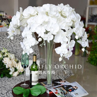 artificial orchid flower - 90 cm quot Length Elegant Artificial Phalaenopsis Flowers Butterfly Orchid Bouquet For Christmas Home Ornament Party Decorations supplies