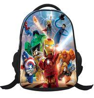 Wholesale 5 styles LEGO Iron Man Batman school bag kids school backpack for girls boys new cartoon backpacks bag school backpack bag