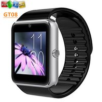 Wholesale Smart Watch GT08 Clock Sync Notifier Support Sim Card Bluetooth Connectivity Apple iphone Android Phone Smartwatch Watch