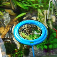 aquarium plant food - Round Aquarium Water Plant Tank Feeding Ring Fish Feeder Feeding Station Float Floating Food Blue