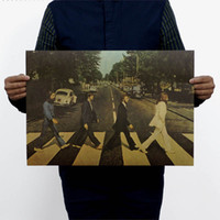 abbey road vinyl - 2015 Real Vinilos Paredes Wall Sticker Beatles Crossing Abbey Road Nostalgic Retro Rock Poster x35cm Vintage Greeting Card
