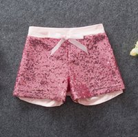 Wholesale 2016 New Girls Sequin Shorts Cotton High grade Golden Pink Sequins Shorts Baby Girl Shorts Children s clothing