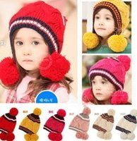Wholesale fast shipping baby Cloche hat kid hat children cap Set of head cap winter cap
