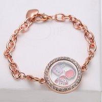 bar magnets - 25mm openable glass magnet photo storage locket bracelet bulk charms bangles life floating locket pendant DIY jewelry box with