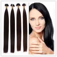 Cheap cheap Russian Pre Bonded Flat Tip Hair Extensions Remy Human Keratin fusion Hair 1G S 100G PC 300G LOT In STOCK Free Shipping