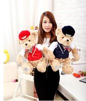 airline toys - Super Cute cm Airline Stewardess China Teddy Bear Toys Plush Doll Perfect Stuffed Toys Bear Kids Gifts