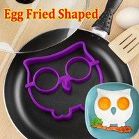Wholesale Cute Silicone Skull Owl Egg Fried Shaped Mould Shaper Ring Kitchen Cooking Tool FREE DHL