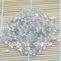 Wholesale 14 Gauge Steel Tongue Barbell Tongue Rings Tongue Bars Clear UV Balls Body Piercing Body Jewelry