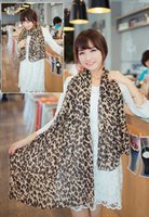Wholesale Fashion and Sexy Summer Style Big Chiffon Leopard Scarf For Women