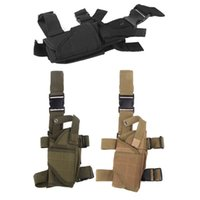 Wholesale Outdoor Hunting Tactical Puttee Thigh Leg Gun Holster Pouch Bag Wrap around Khaki Green Black