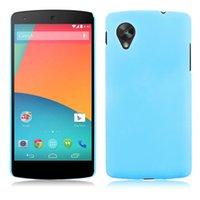 Al por mayor-Nexus 5 El caso ultra fino Pintura UV volver cubierta de plástico protectora de la piel Shell para el Caso 5 LG Google Nexus