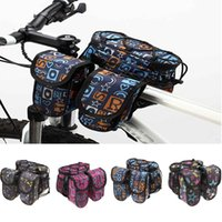 bicycle top tube cover - Top Tube Mountain Road MTB Bike Bicycle Bag Frame Front Pannier Saddle Bag Double Side with Rain Cover Cool Personalized Y0297