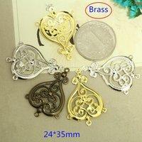 art deco style earrings - 30 Ornate Brass Victorian Art Deco Styled Chandelier Earring Findings Connectors Dangles mm Brass Stamping